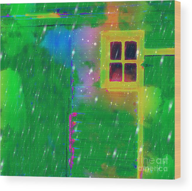 Door Wood Print featuring the photograph Happy Window by Julie Lueders