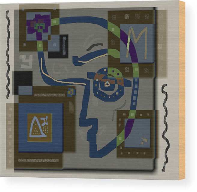 M-theory Wood Print featuring the digital art M-theory by Carol Everhart Roper