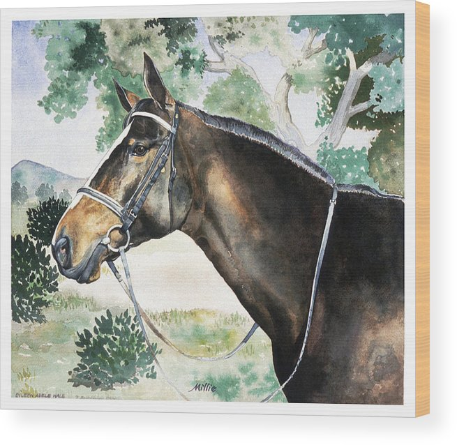 Portrait Wood Print featuring the painting Millie by Eileen Hale