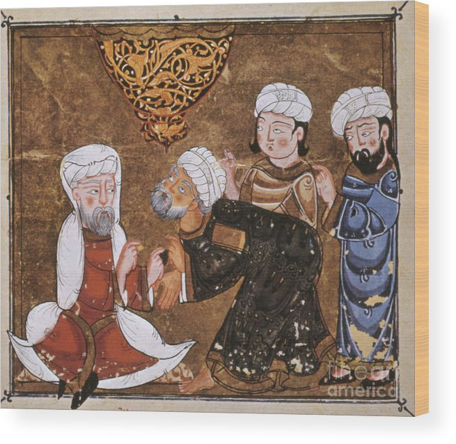 1334 Wood Print featuring the photograph Muslim Court, 1334 A.d by Granger