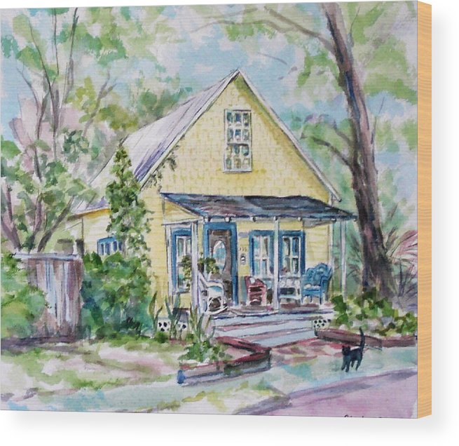 House Wood Print featuring the painting One Thirty Five by Ruth Mabee