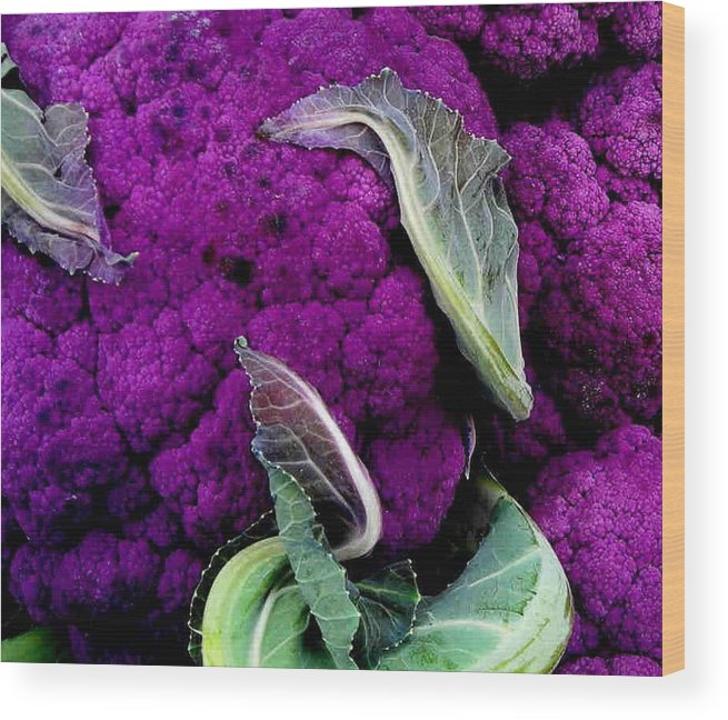 Purple Cauliflower Wood Print featuring the photograph Purple Cauloflower by Dragica Micki Fortuna
