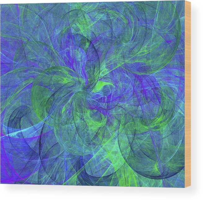 Sentimental Nature Abstract Wood Print featuring the digital art Sentimental Nature Abstract by Georgiana Romanovna