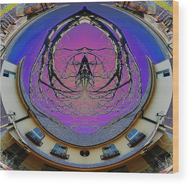 New Orleans Wood Print featuring the digital art Spider House By The 17th by Beverly Kimble Davis