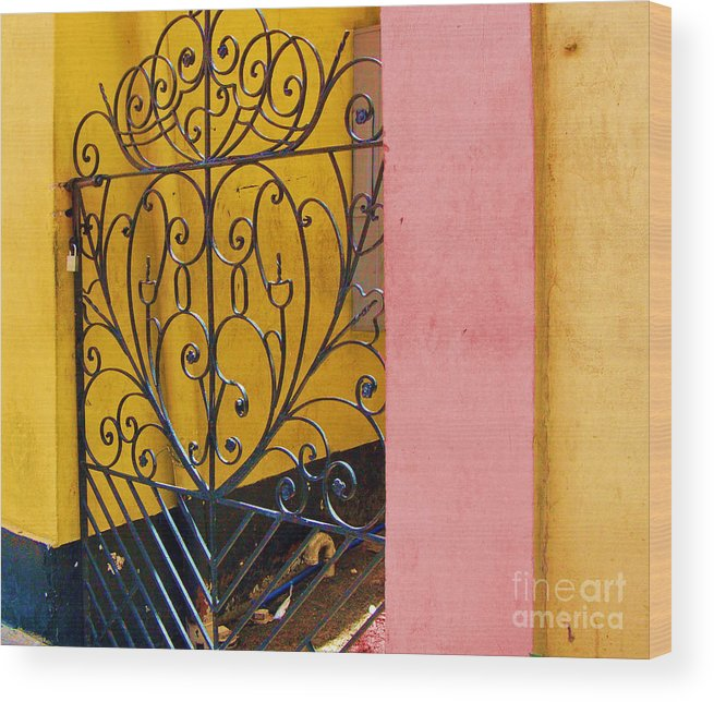 Gate Wood Print featuring the photograph St. Thomas Gate by Debbi Granruth
