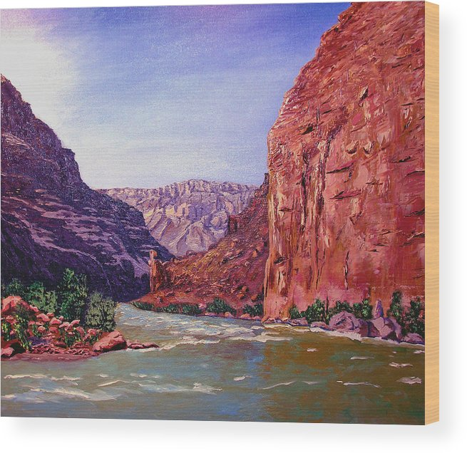Grand Wood Print featuring the painting Grand Canyon I by Stan Hamilton