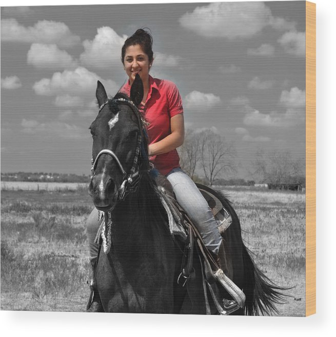 Horse Wood Print featuring the photograph Miss Rider by Ruben Barbosa