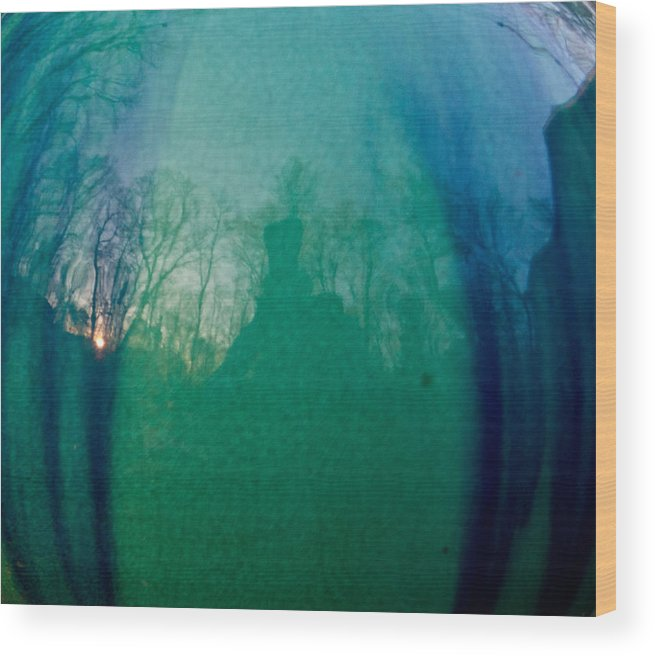Sunset Wood Print featuring the photograph Shadows In The Eye Of The Sunset by Douglas Barnett