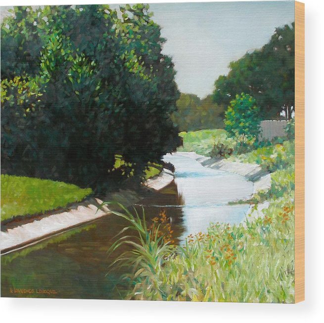 Landscape Wood Print featuring the painting Coulee by Kevin Lawrence Leveque