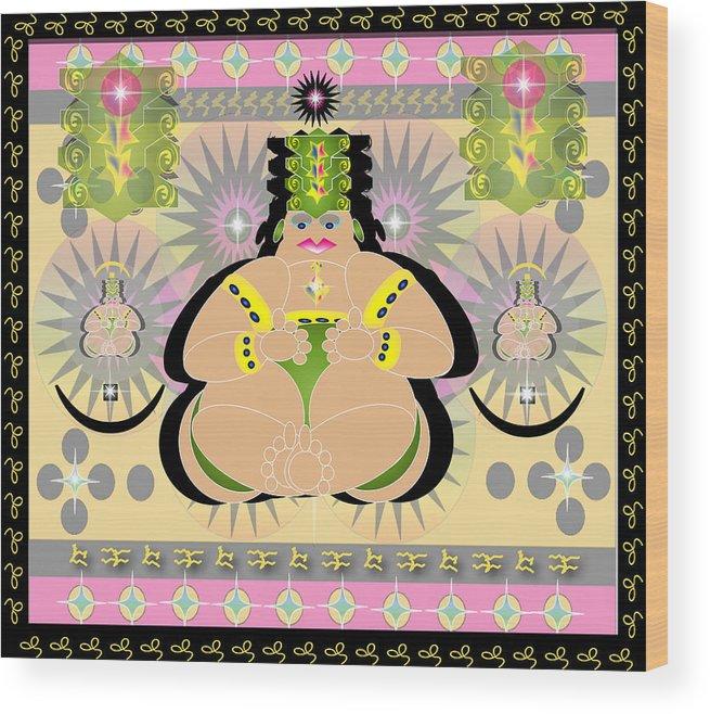 Fantasy Wood Print featuring the digital art My Buddah by George Pasini