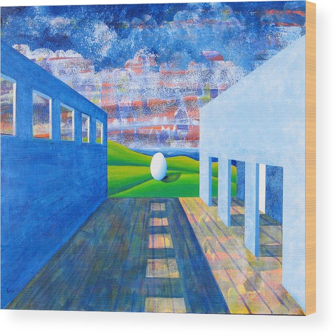 Surrealism Wood Print featuring the painting Mystery And Memory by Rollin Kocsis