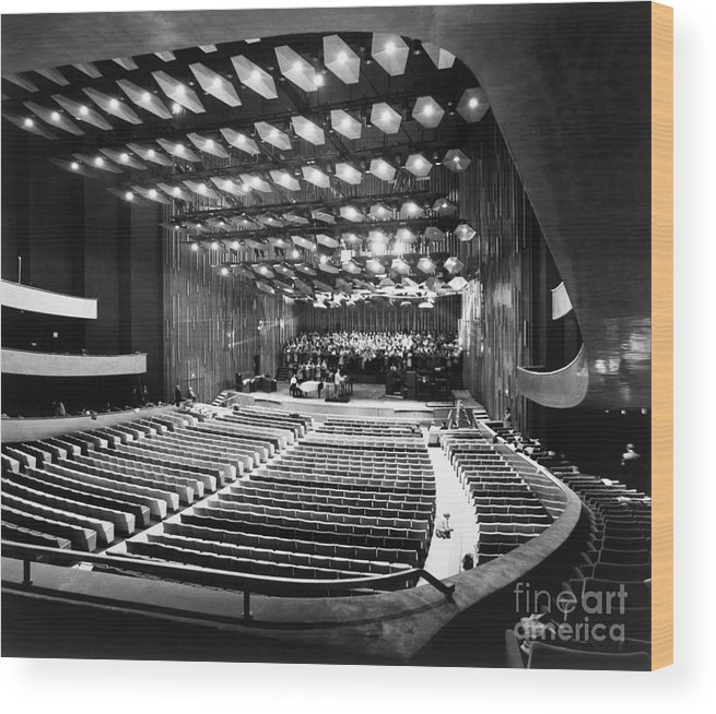 1962 Wood Print featuring the photograph New York: Lincoln Center by Granger