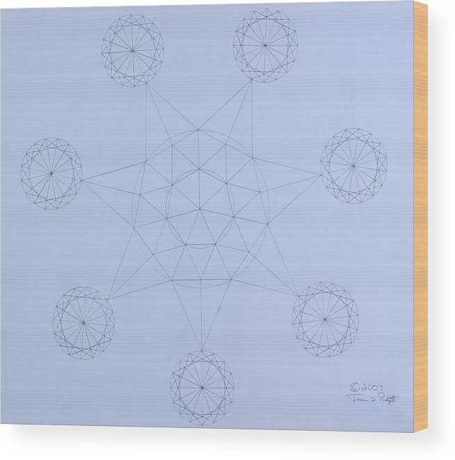 Jason Padgett Wood Print featuring the drawing Impossible Parallels by Jason Padgett