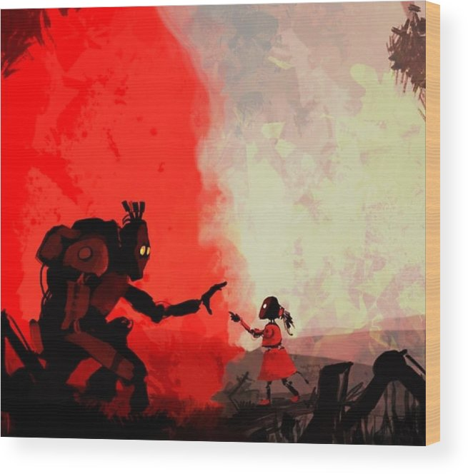 Wood Print featuring the painting Video Game by IAMJNICOLE JanuaryLifeBrand