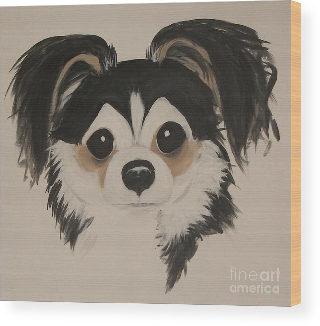 Pets Wood Print featuring the painting My Boy Schnapps by Rachel Carmichael