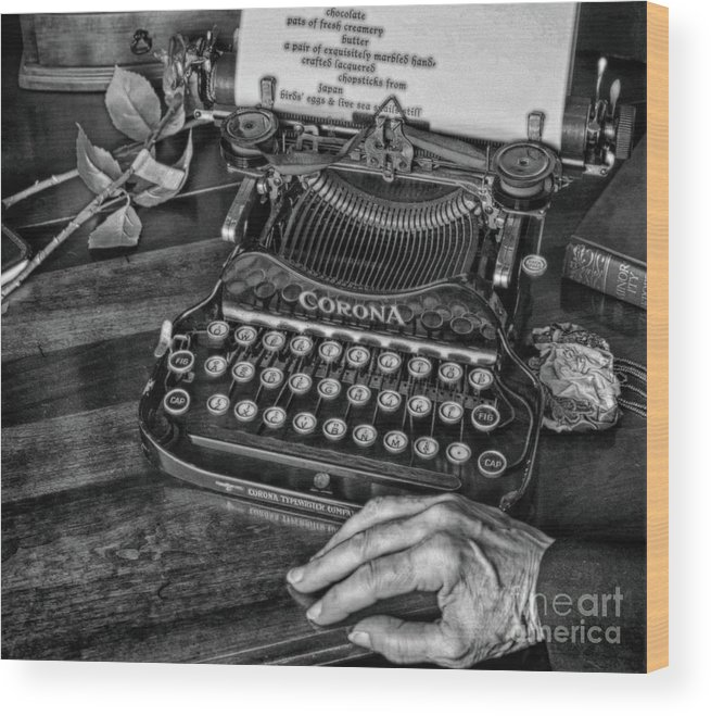 Poet Wood Print featuring the photograph The Writer's Desk by Steven Digman