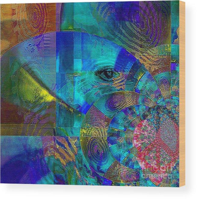 Fania Simon Wood Print featuring the mixed media Breaking Borders by Fania Simon