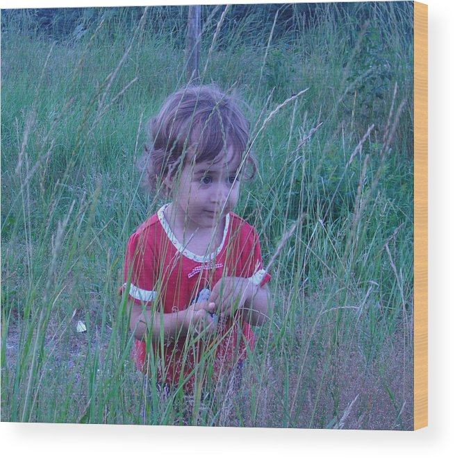 Landscape Wood Print featuring the photograph Innocense Of A Child by Sharon Stacey