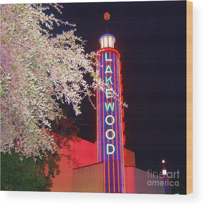 Theater Wood Print featuring the photograph Lakewood Theater by Debbi Granruth