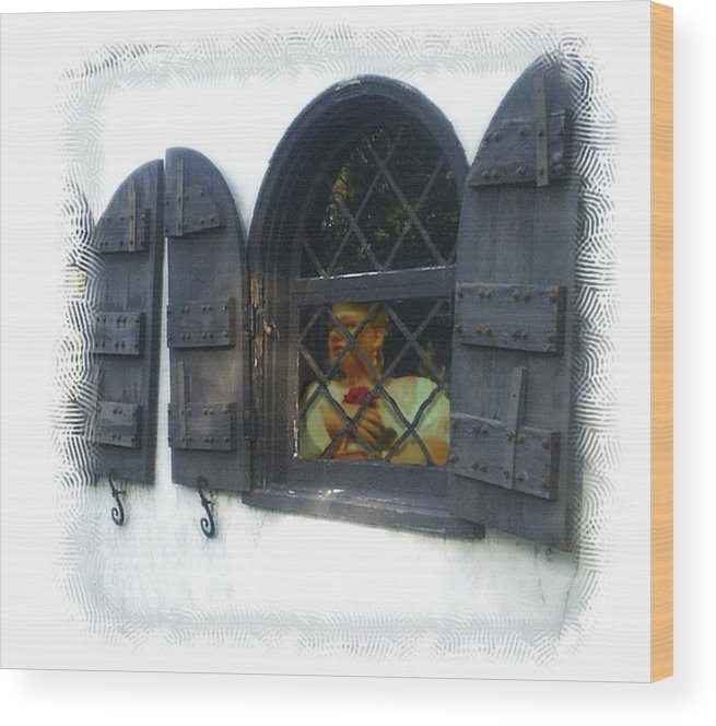 Window Wood Print featuring the photograph Waiting For You by Scarlett Royal