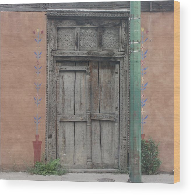 Doors Wood Print featuring the photograph What's Behind The Doors by Mike Burton