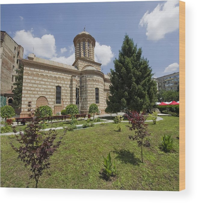 Architecture Wood Print featuring the photograph Bucharest Church by Ioan Panaite