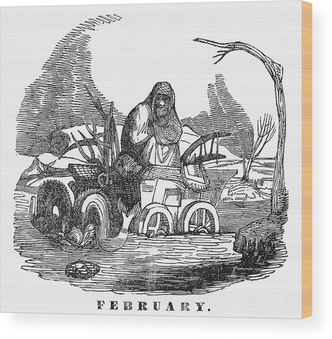 1837 Wood Print featuring the photograph Allegory: February, 1837 by Granger