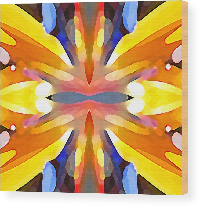 Abstract Art Wood Print featuring the painting Abstract Paradise by Amy Vangsgard
