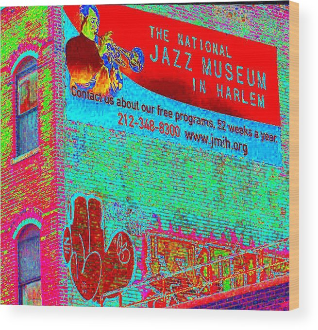 Harlem Wood Print featuring the photograph Jazz Museum by Steven Huszar