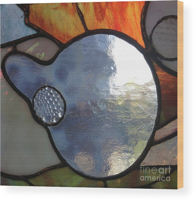 Wood Print featuring the glass art Nemo Detail by Alessandra Di Noto