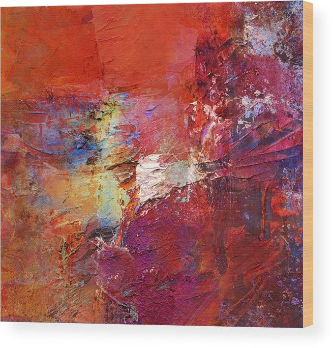 Color Wood Print featuring the painting Abstract Mm No. 107 by Wolfgang Rieger