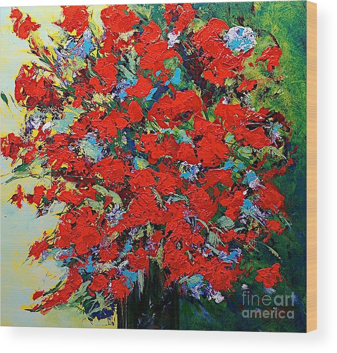 Landscape Wood Print featuring the painting One Of A Kind by Allan P Friedlander