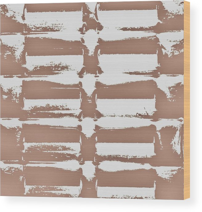 Beige Wood Print featuring the digital art Beige Abstract by Larry A White