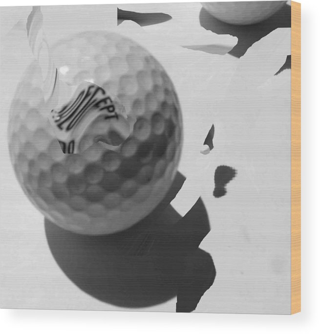Golf Wood Print featuring the photograph A Golf Ball On Holiday by Evguenia Men