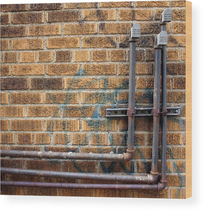 Pipes Wood Print featuring the photograph Brighton Pipes by Bryan Hochman