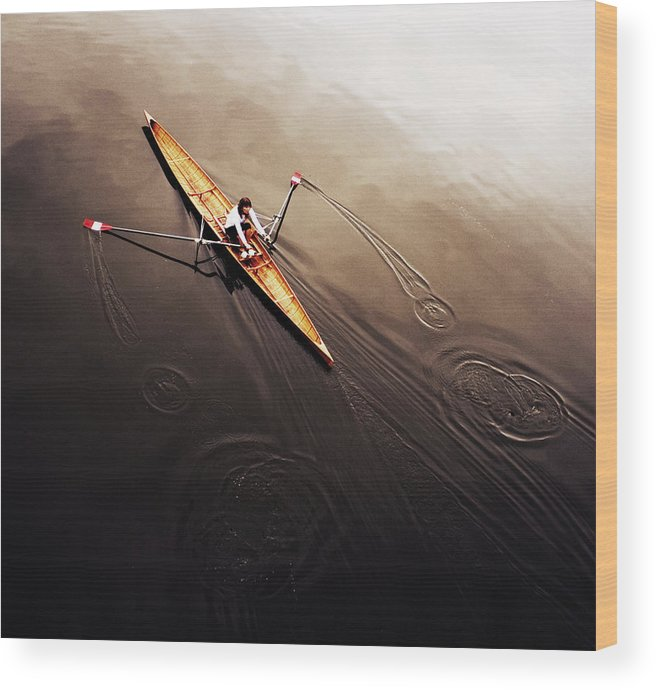 Action Wood Print featuring the photograph Dragonfly by Fulvio Pellegrini