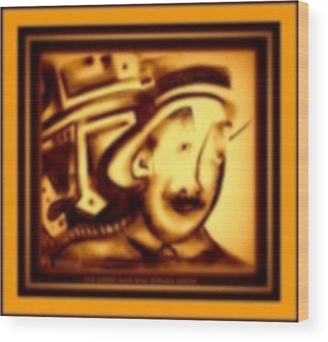 Joan Kamaru Wood Print featuring the digital art Gold Man by J Kamaru