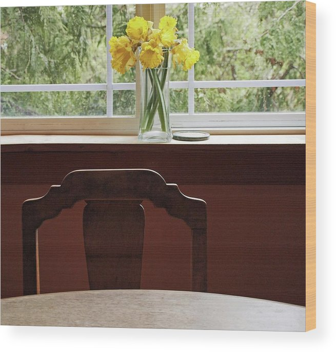 Flowers Daffodils Wood Print featuring the photograph March by Laurie Stewart