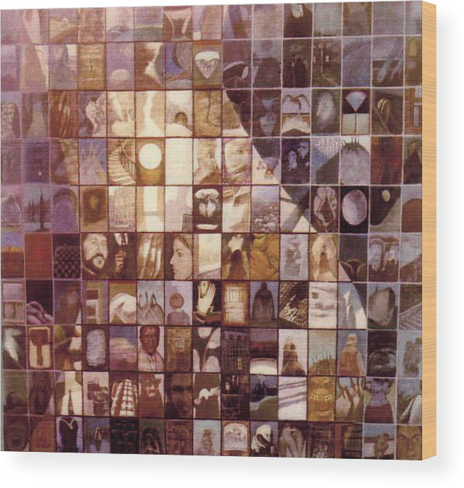 Mosaic Wood Print featuring the painting One Hundred And Fifty by James LeGros