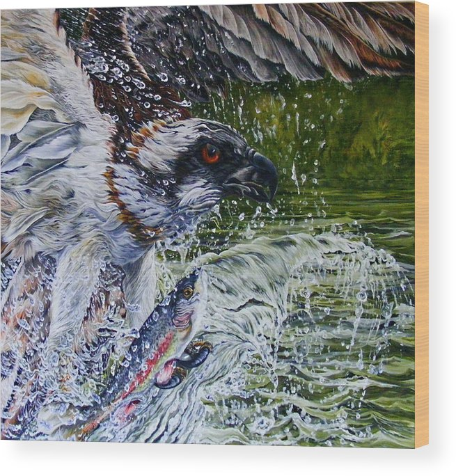 Osprey Wood Print featuring the painting Osprey by Donald Dean
