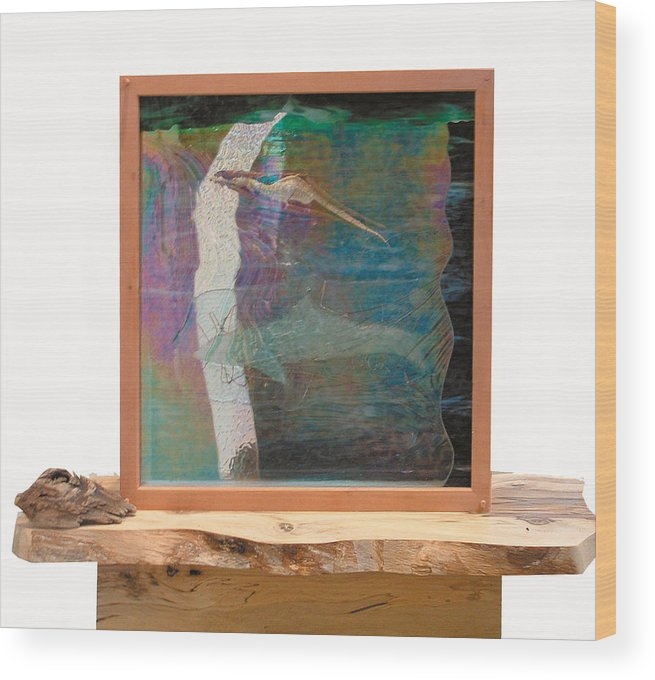 Sea Wood Print featuring the sculpture Sea Dragon Dreaming by Sarah King