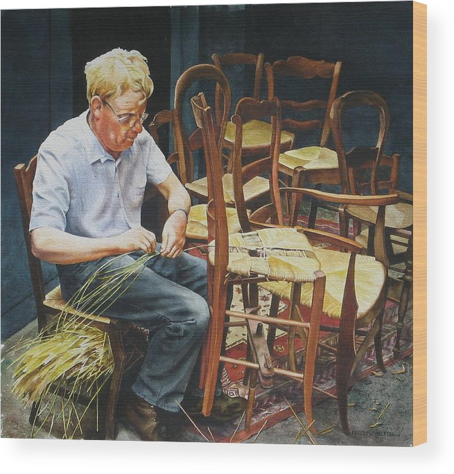 People Wood Print featuring the painting The Craftsman by Marion Hylton