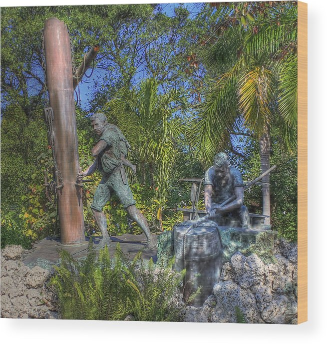 Key West Wood Print featuring the photograph The Wreckers by Shelley Neff