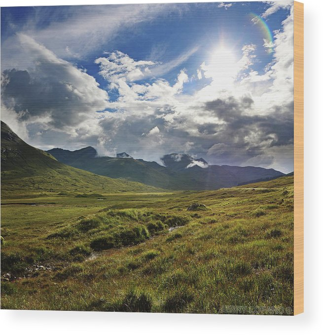 Scotland Wood Print featuring the photograph Highlands Afternoon by Jerry LoFaro