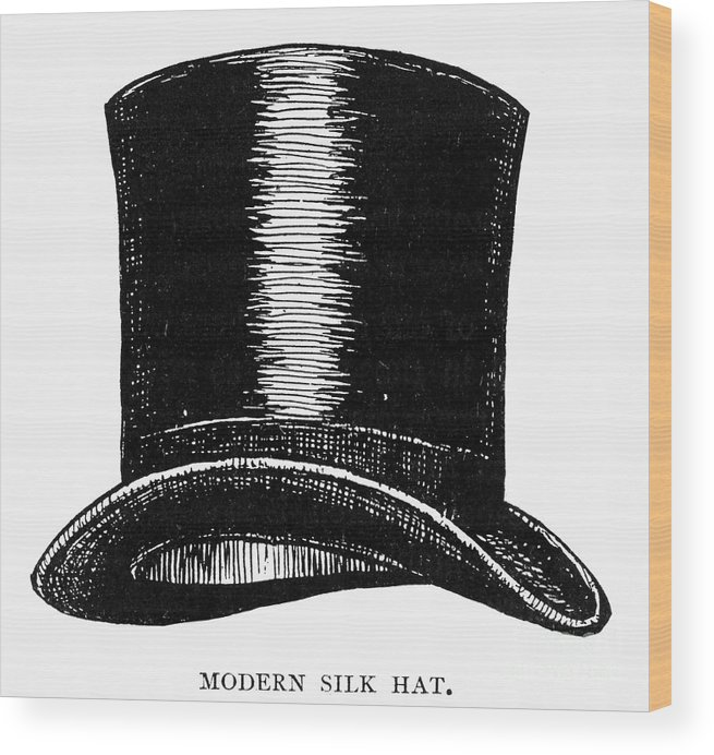 1900 Wood Print featuring the photograph Top Hat, 1900 by Granger
