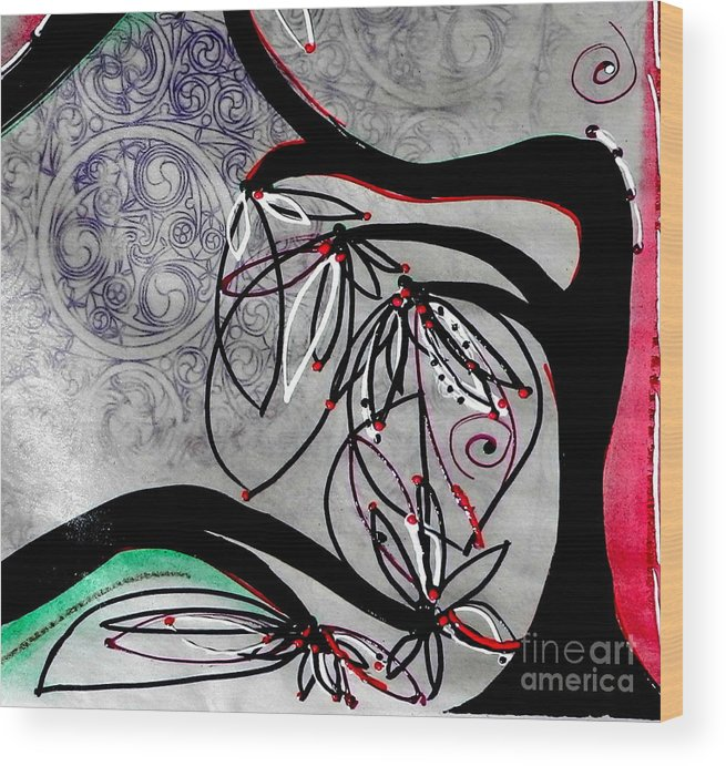 Trees Wood Print featuring the mixed media A Delicate Dance by L Cecka