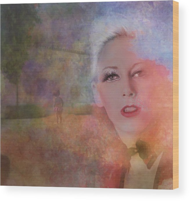 Woman Wood Print featuring the photograph Mystic Woman by Jeff Burgess