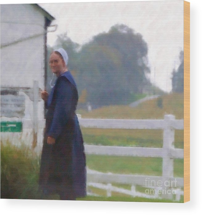 Amish Wood Print featuring the photograph Simple Living by Debbi Granruth