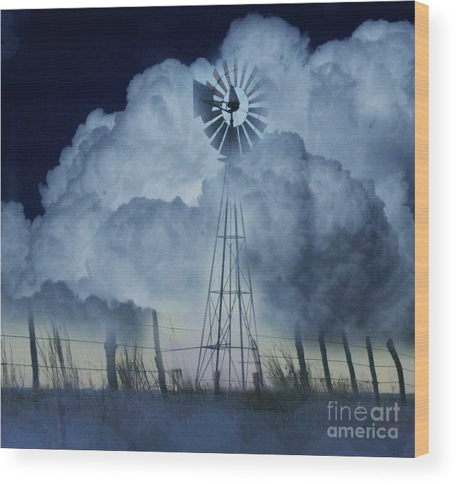 Clouds Wood Print featuring the photograph Summer Storm by David Carter
