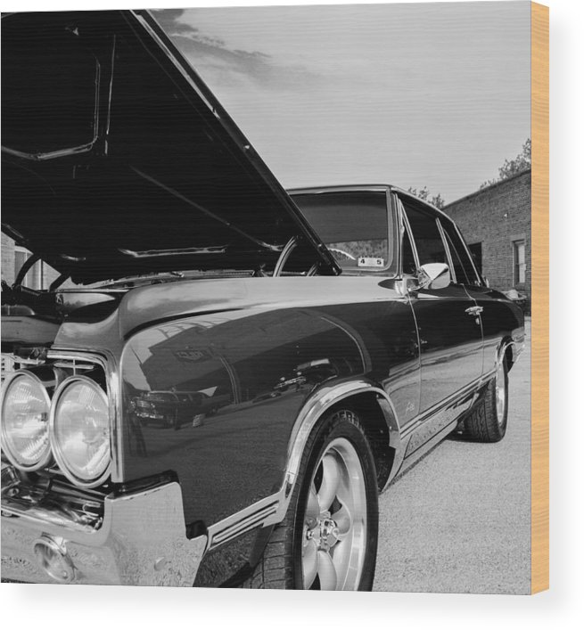 Black And White Wood Print featuring the photograph Black And White Olds by David Jeffries